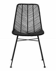 Chaise Rotin Design : bloomingville chaise lena rotin noir bloomingville petite lily interiors ~ Teatrodelosmanantiales.com Idées de Décoration