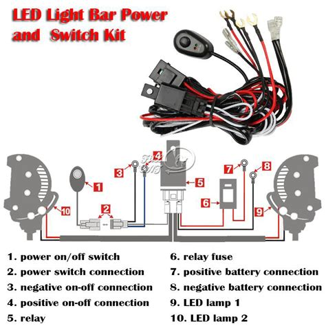 Led Hid Fog Spot Work Driving Light Wiring Loom