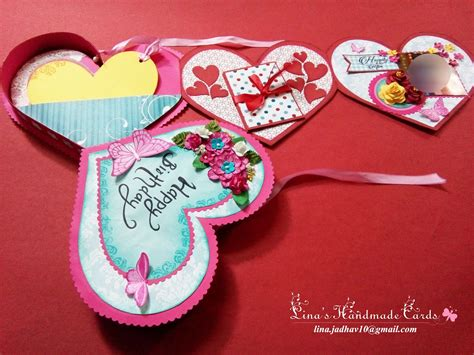 Valentines day transparent heart frame card. Lina's Handmade Cards: Two Heart Shaped Cards!!!!!!!!!