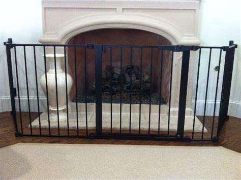 Custom Fireplace Hearth Child Safety Gate Dallas & San Folding Tv Table Set Rustic White Kitchen Console Sets Train With Bench For Coffee Glass Top Nook Dining Placemats