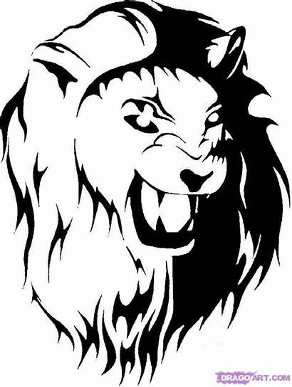 Lion Tribal Draw Step Drawing Pop Culture