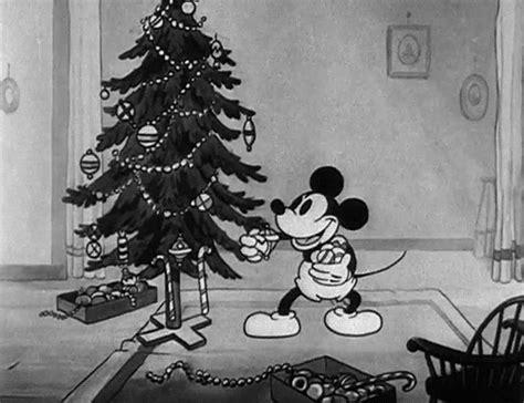 noel mickey noir et blanc vintage image animated gif