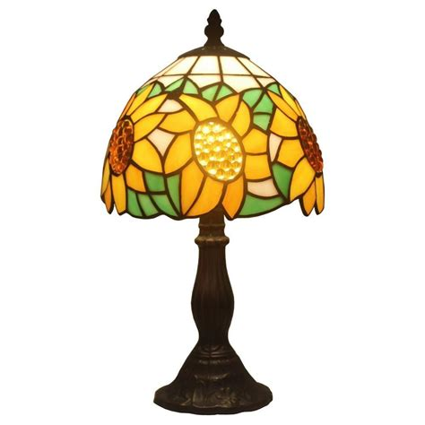 sunflower tiffany table l amora lighting 15 in tiffany style sunflower table l