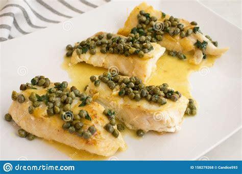 grouper fillets butter lemon caper seared capers sauce fish