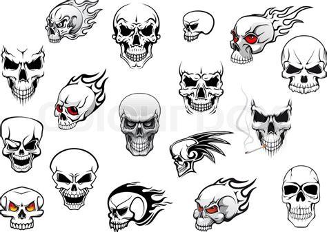 Horror, Halloween And Danger Skulls ...