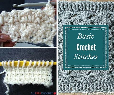 basic crochet stitches 20 basic crochet stitches allfreecrochet com