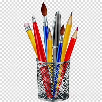 Pencil Pen Clipart Stationery Writing Transparent Clip