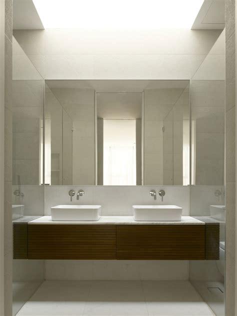 twin sinks minimalist contemporary home  singapore