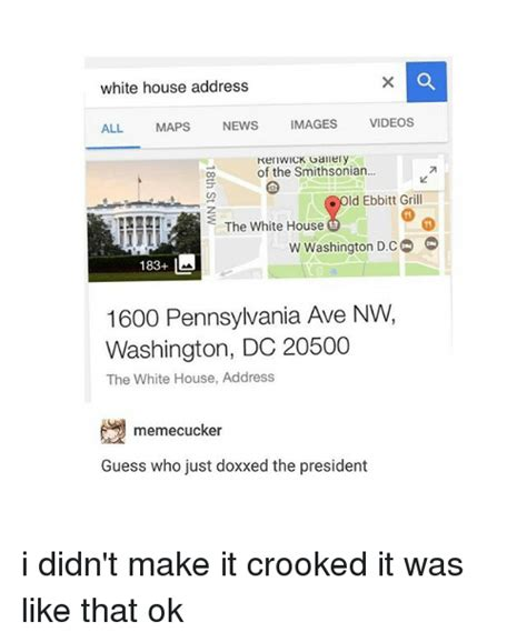 white house address  images news maps  kenwick