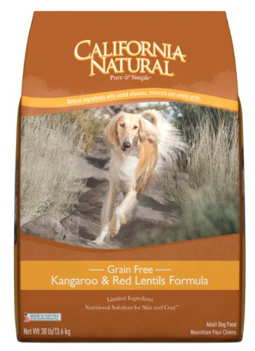 california natural grain  kangaroo  red lentils