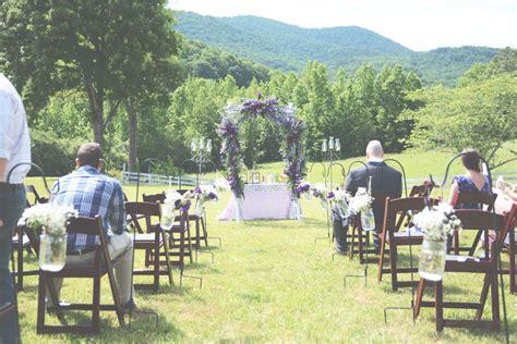 Purple Outdoor Wedding At Mountain Laurel Farm In