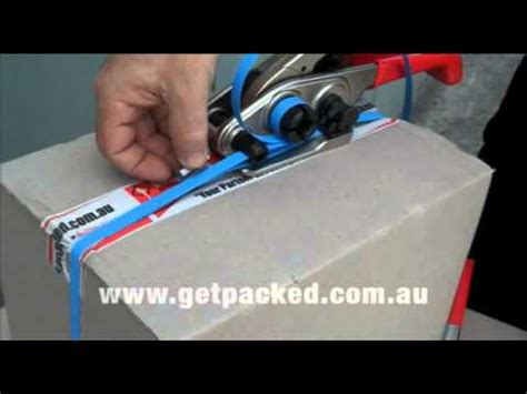 strapping cartons  packages togther  plastic strapping  strapping tools youtube