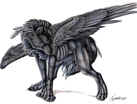 Demonic Wolf With Wings