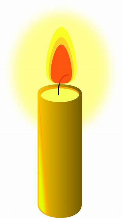 Candle Clipart Transparent Clip Candles Yellow Cliparts