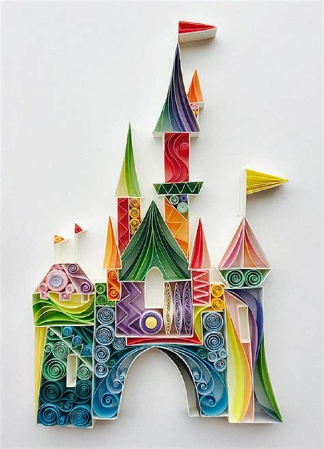 disney castle  images quilled paper art paper