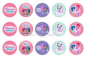 team umizoomi cake topper freebies shimmer and shine bottlecap images for hair bows