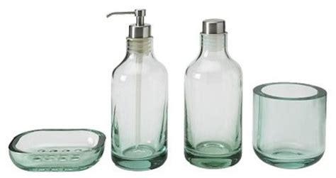 Green Glass Bath Accessories by The 4 Green Glass Bath Accessories