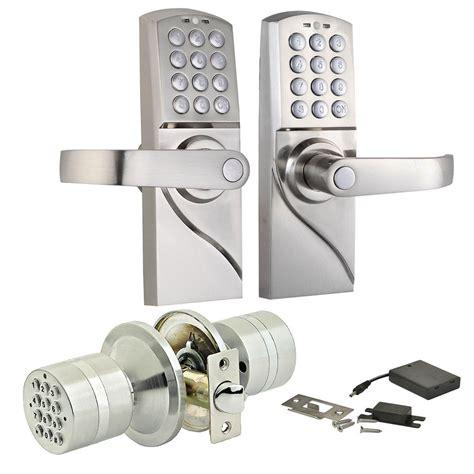 keypad door knob digital electronic code card keyless keypad security entry