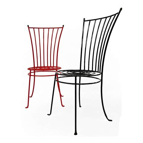 set of six 1950s midcentury iron garden chairs for