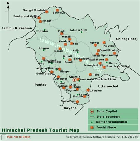 himachal pradesh tourist maphimachal pradesh tourist map