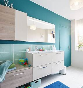 meuble d angle salle de bain leroy merlin maison design With porte de douche coulissante avec meuble de salle de bain laqué blanc