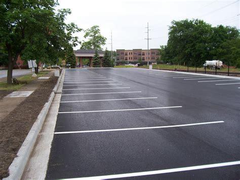 Construction Lot parking lot construction