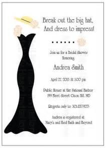 bridal shower brunch invitation wording bridal shower tea party invitation big hat fascinator