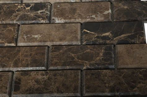 2 X 8 Beveled Subway Tile by Emperador Beveled 2x4 Marble Tile Tilebar
