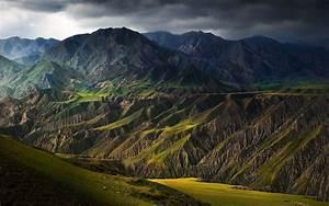 Wallpaper, Sunlight, Landscape, Mountains, Dark, China, Hill, Lake, Nature, Grass, Clouds
