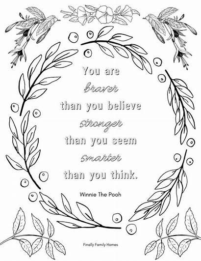 Coloring Positive Affirmation Believe Inspirational Adults Braver