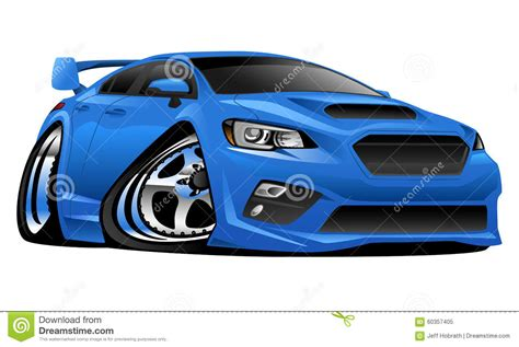 Import Modern Muscle Sports Car Illustration Stock Vector
