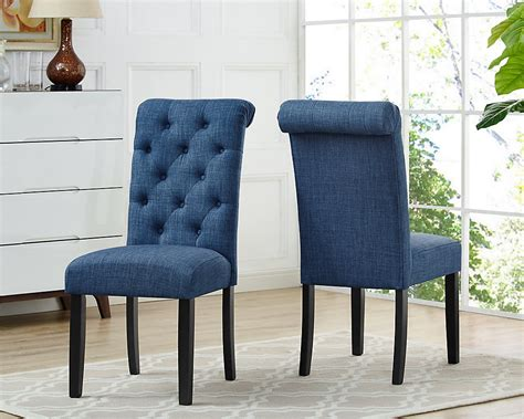 soho tufted dining chair  blue set