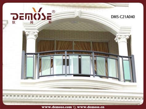 customized tempered glass interior stair railing exterior veranda balcony aluminum and glass railings