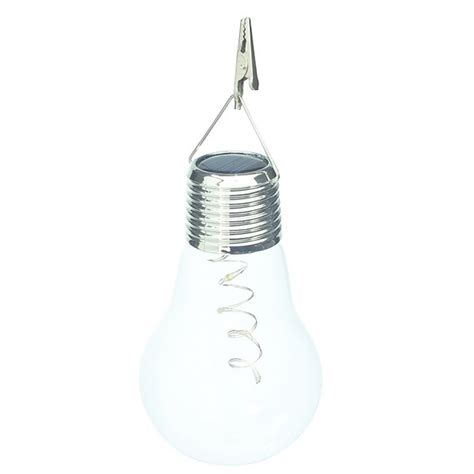 solar hanging lightbulb by cole and bright