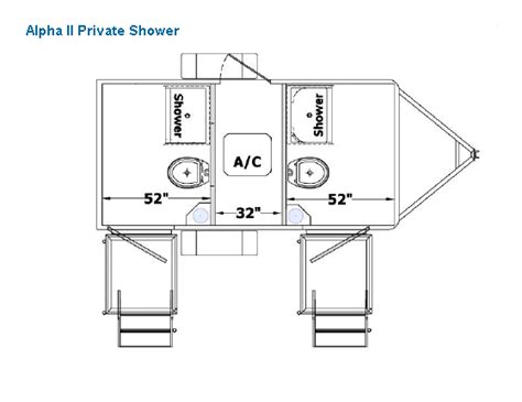 simple walk in shower floor plans placement alpha series mobile shower floor plans alpha mobile