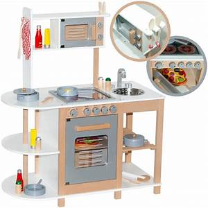 Sun kinderkuche aus holz weiss spielkuche kuche kinder for Holzküche kinder