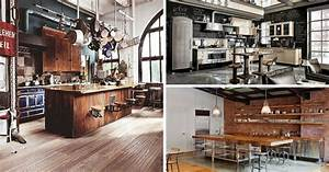 cuisine industrielle 43 inspirations pour un style With idee deco exterieur jardin 18 idees decoration loft amenagement loft inspirations