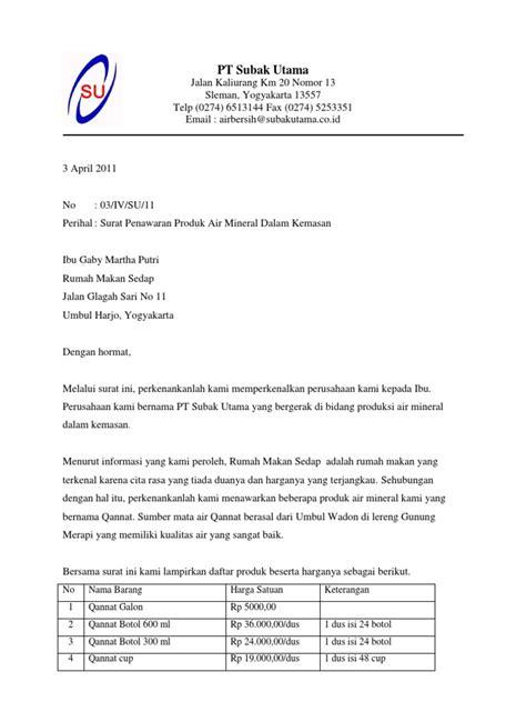 Contoh Penawaran Produk Docx by Contoh Surat Penawaran