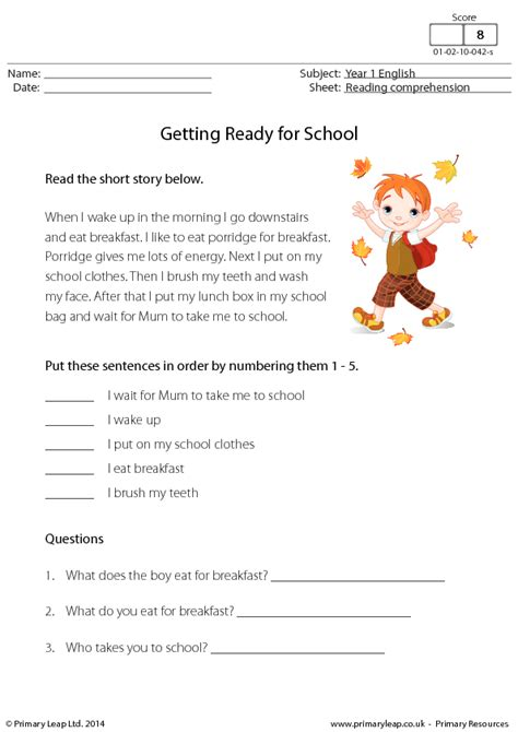 reading comprehension  ready  school
