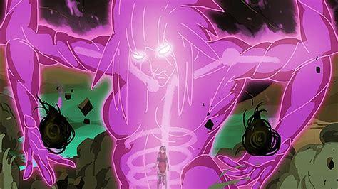 sarada unleashes susanoo  sasuke uchiha naruto