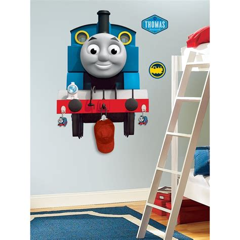 new giant thomas the tank engine wall decal w hooks boys