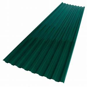 suntuf 26 in x 6 ft hunter green polycarbonate roof With 18 foot metal roofing