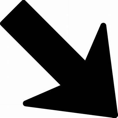 Arrow Down Icon Pointing Right Svg Onlinewebfonts