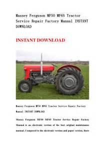 Massey Ferguson Mf50 Mf65 Tractor Service Repair Factory
