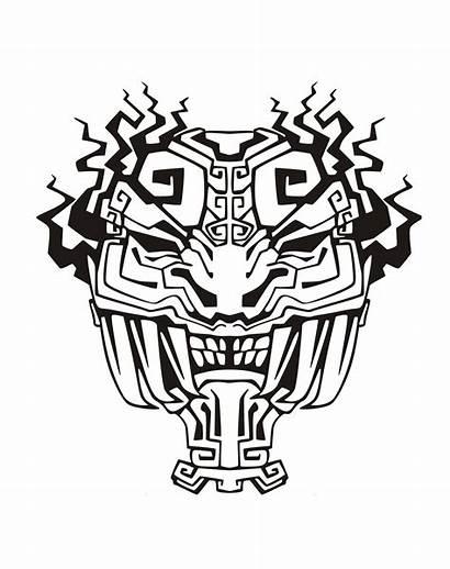 Aztec Mayan Mask Coloring Inca Incas Aztecs
