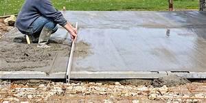 comment couler une dalle de beton With faire une chape exterieur