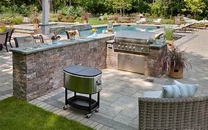 Stacked Stone Outdoor Bar Prefab Outdoor Kitchens Outdoor
