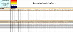 attendance sheet excel fatfreezingclub With yearly vacation calendar template