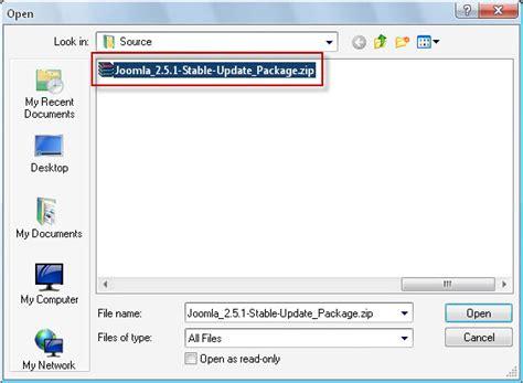 How To Install Joomla 17 Or 25 Update Package Joomtut