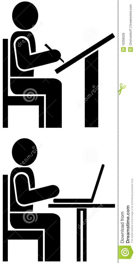 Man Writes - Pictogram, Symbol Royalty Free Stock Image